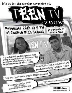 Teen TV Flyer