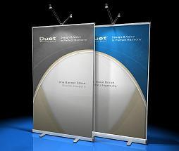 Duet Banner Stand