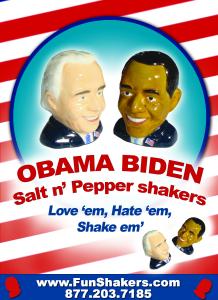 Fun Obama Biden Salt and Pepper Shakers