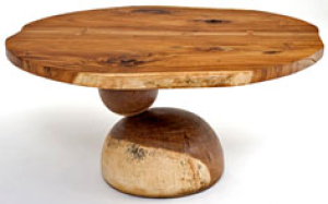Natural, rustic dining table