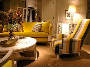 Hickory Chair featuring hot 2012 Trend of Yellow and Grey