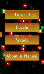 Zerofall main menu
