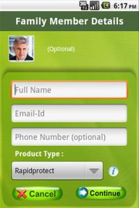 Screenshot of Rapid Tracker App 2
