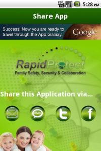 Screenshot of Rapid Tracker App 1