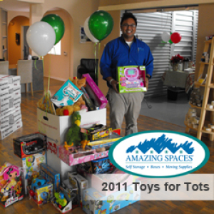 2011 Toys for Tots Drive at Amazing Spaces Storage Center in Spring