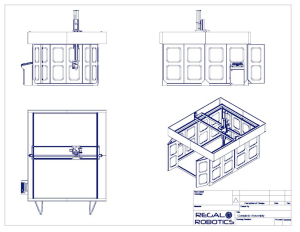 Blue print of the 500 Series 5-Axis Router