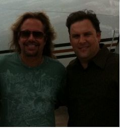 Mark Daniels, CEO of AeroGroup with Vince Neil (Rock Group - Motley Crue)