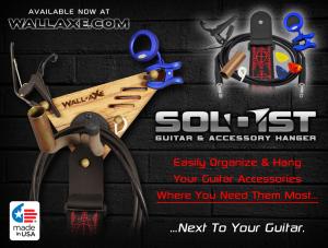 Wall-Axe SOLOIST: Guitar & Accessory Hanger Banner