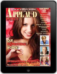 Applaud Women magazine Holiday/Winter 2015 Cover image