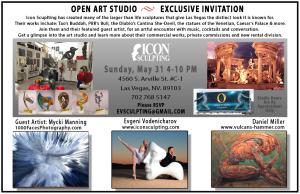 Invitation to Icon Sculpting Open Art Studio Event
