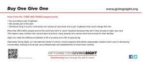 Giving the Gift of Sight