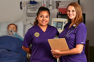 Olivet Students in Performance Scrubs