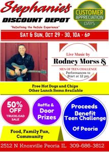 Teen Challenge / Stephanie's Discount Depot 10/29-30/16 Event
