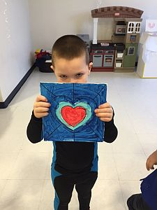 Boy with his art