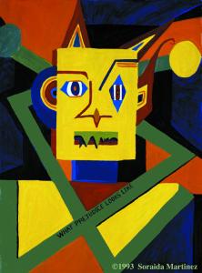 "(C) 1993, What Prejudice Looks Like, Oil on Canvas, 30""x 40"""