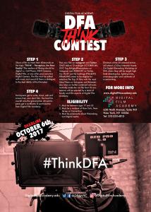 DFA Think Contest Flier (Back)