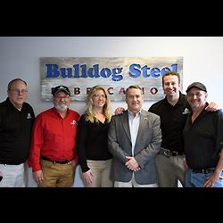U.S. Congressman Jody Hice with staff of Bulldog Steel Fabrication