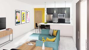 Interior Images: Kitchen 1-bedroom
