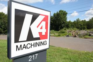 K4 Machining Sign