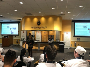 Ms. Ravida explains and educates JWU culinary students about what distinguishes high quality European EVOO.
