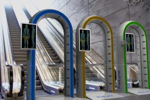 PreLynx Portal before boarding a subway train