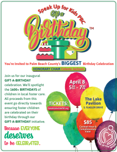 Gift A Birthday Event Flyer