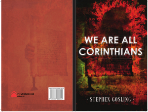 We Are All Corinthians - A Weekly Devotional Cover