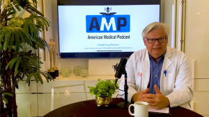 Production Still from a Video Podcast episode of AMP