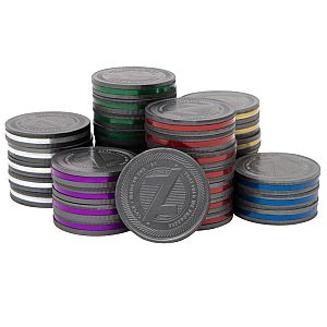 Photo 2 Caption: Stack of magnetic Cogz™ coins.