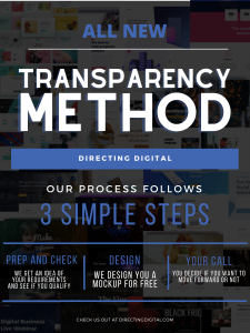 """A graphic of Directing Digitals new """"Full Transparency"""" approach"""