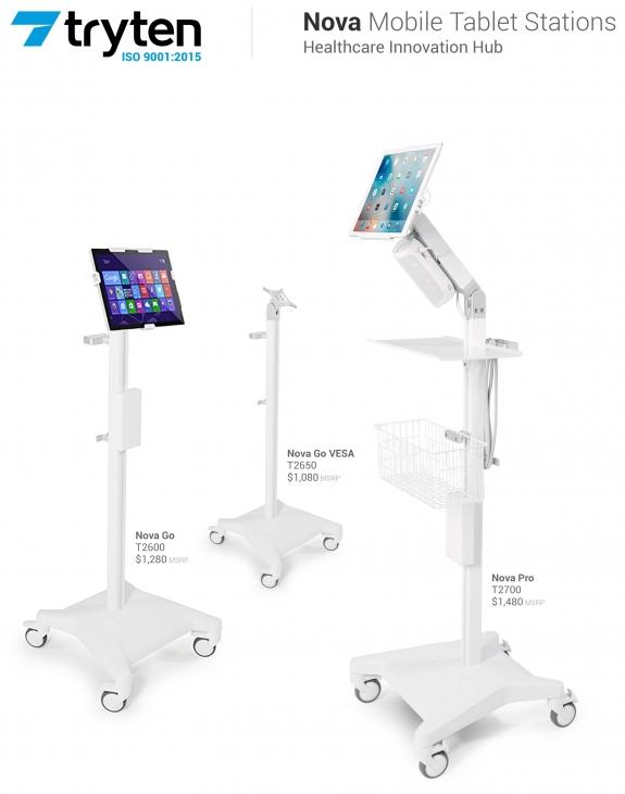 Nova Pro Medical Tablet Station - Premium - Please Call to Order 281-340-2013