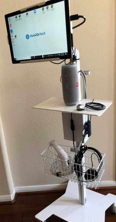 Nova Pro Point of Care Medical Tablet Station - Includes USB Stethoscope & Software, Headset & ExamC