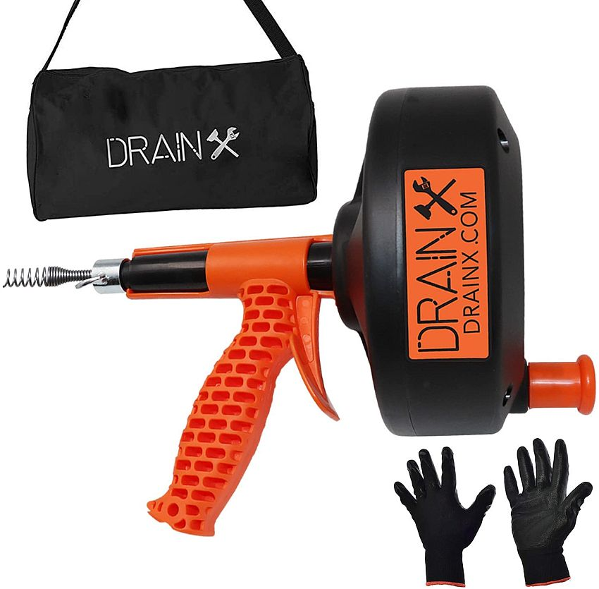 Drainx 25 FT Ergonomic Load Support Drain Auger