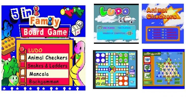 5-in-1 TV Board game