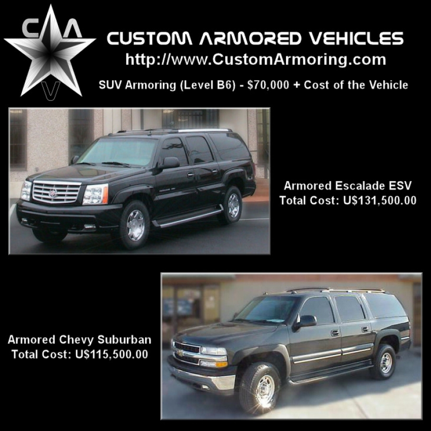 SUV Armoring and Bullet-proofing (Armored Vehicle / Bulletproof Car)