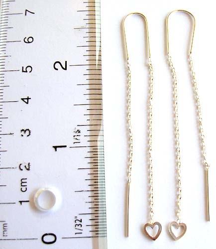 sterling silver ear thread