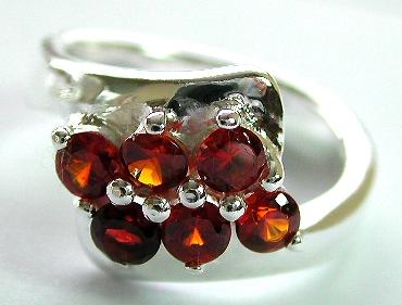 Spring 2005 designer jewelry present citrine color cz sterling silver ring