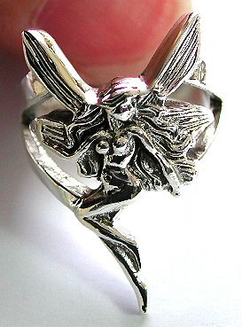 Contemporary silver jewelry wholesaler wholesale fairy lady sterling silver ring