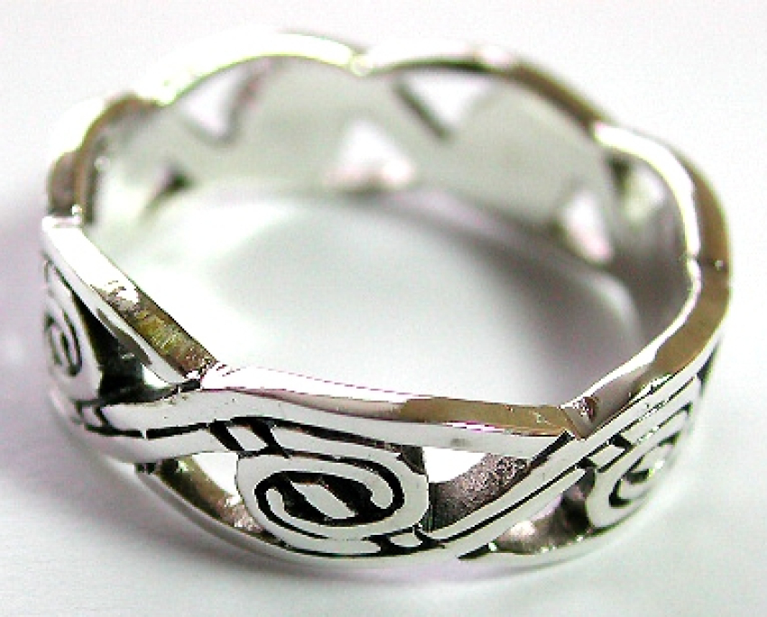 Celtic jewelry supplier wholesale sterling silver ring in Celtic knot work pattern design