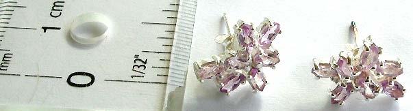 Fake diamond CZ gem jewelry supplier wholesale cubic zirconia earring