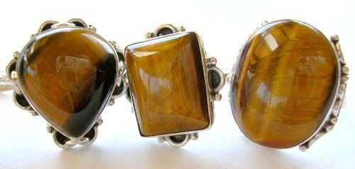 rings and sterling silver jewelry wholesale importer supply tiger eye semi precious stone ring and p