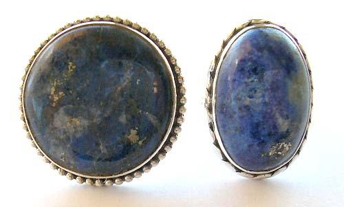 Silver jewelry store wholesale lapis lazuli semiprecious gemstone sterling silver rings
