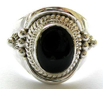 Rings and jewelry supply wholesale catalog offer Bali jewelry ring with onyx