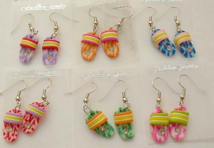 Costume jewelry fashion jewelry wholesale Foaming slipper pattern with dye-tie color design in fashi