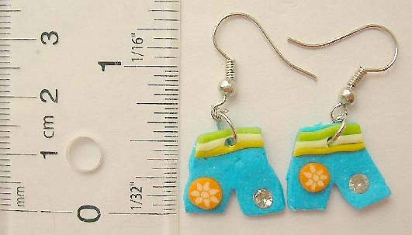 Latest fashion jewellery wholesale Fish hook fashion earring in assorted enamel color pant pattern d