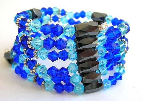 Bracelet charm Wholesale bangle supply One string forming fashion hematite bracelet with multi round