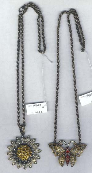 Beaded lady's jewerly online supply fashion black chain necklace