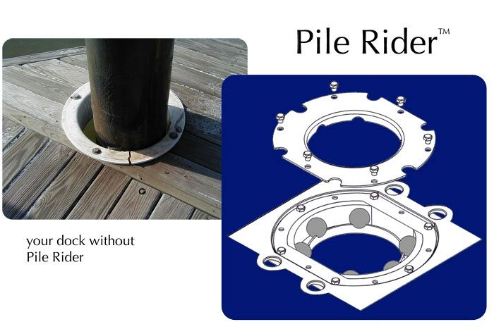 Pile Rider® - protection for your marinas piles