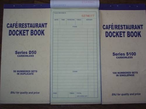 carbonless docket book,receipt book for cafe and restaurant,restaurant guest check pads