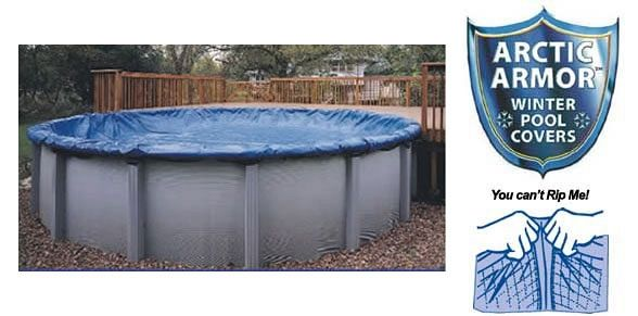 12' Round Pool: Winter Pool Cover 16' (navy) (Above Ground Winter Pool Cover)